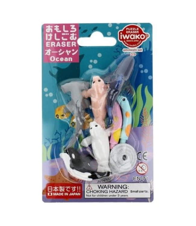 iwako Puzzle Eraser Ocean Set 3+