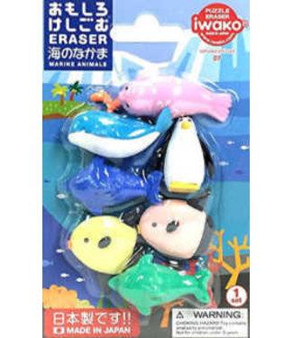 Iwako iwako Puzzle Eraser Marine Animals Set 3+