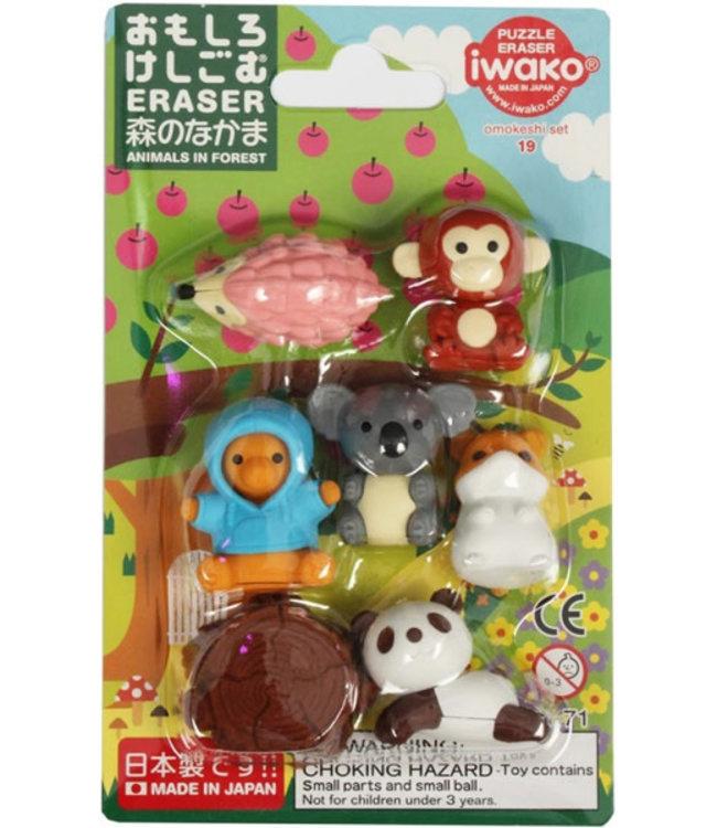 iwako Puzzle Eraser Forest Animals Set 3+