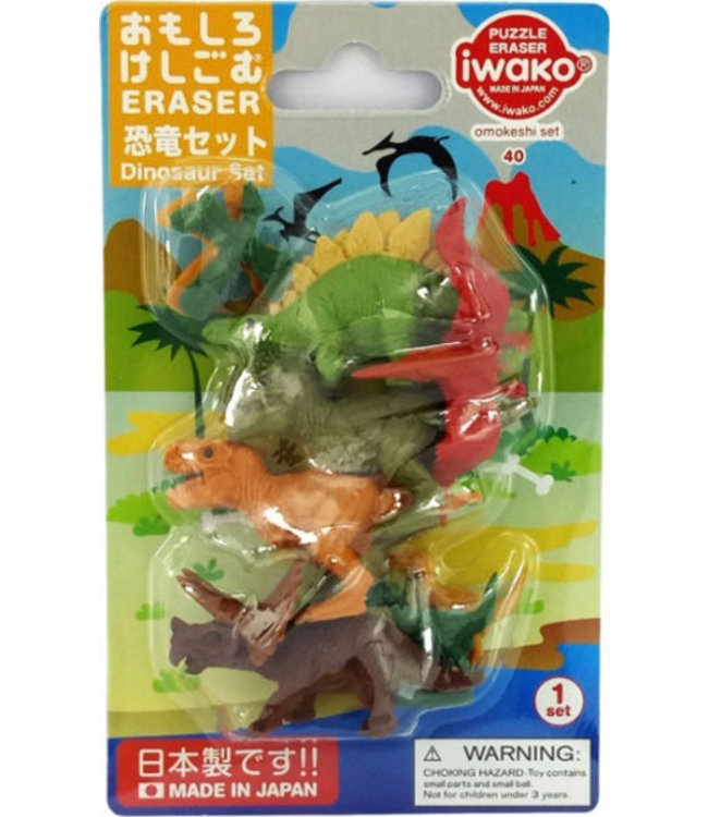 iwako Puzzle Eraser Dinosaurs Set 3+