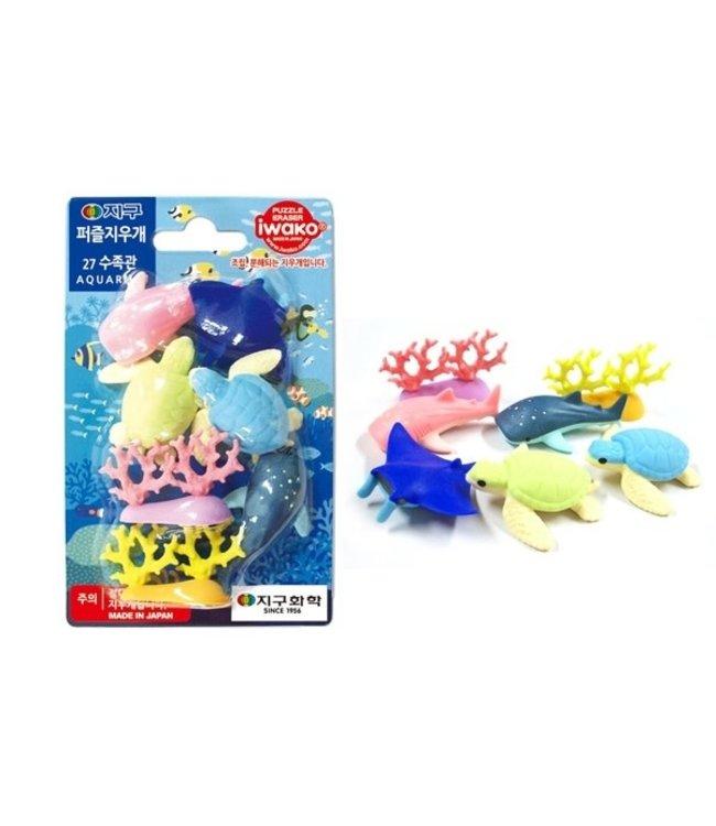 iwako Puzzle Eraser Aquarium Set 3+