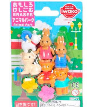 Iwako iwako Puzzle Eraser Animal Park Set 3+