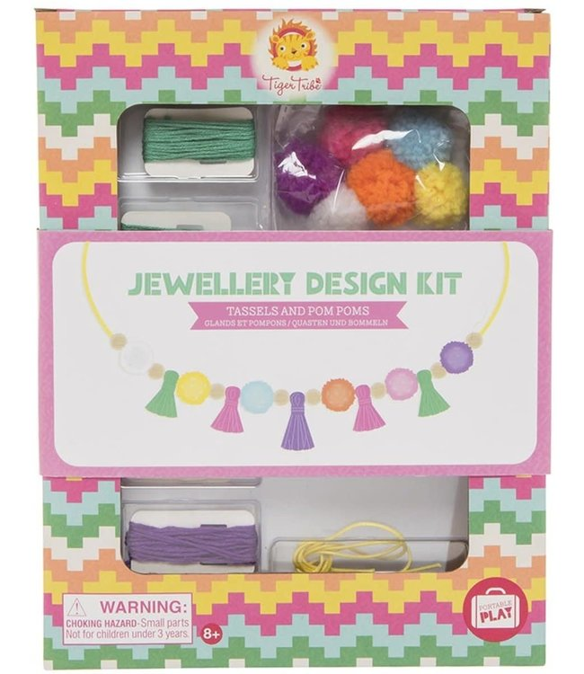Tiger Tribe Jewellery Design Kit Tassels & Pom Poms 8+
