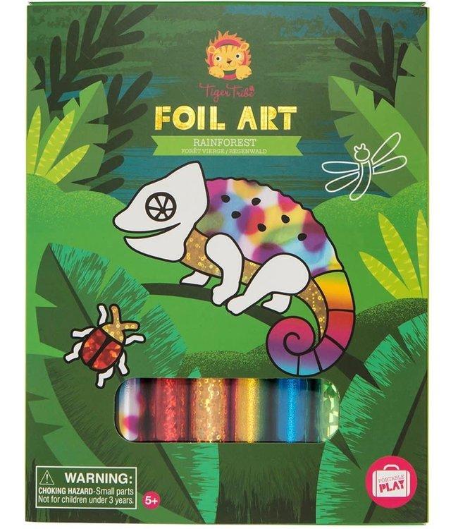 Tiger Tribe Foil Art Rainforrest 5+