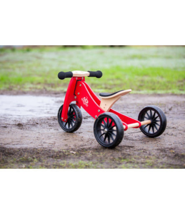 Kinderfeets | Tiny Tot | 2 in 1 | Tricycle/Balance Bike | Cherry Red || 1+