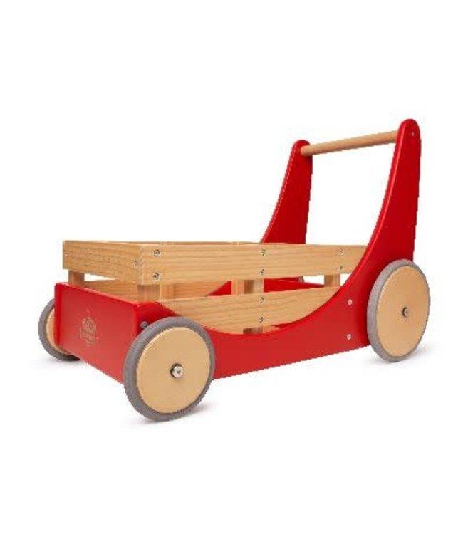 Kinderfeets Cargo Walker Red Duwwagen 1+