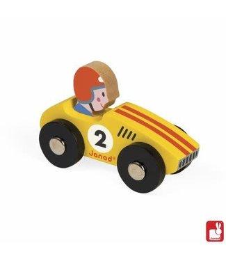 Janod Janod Story Racing - Racer Geel 8,5 cm 1+