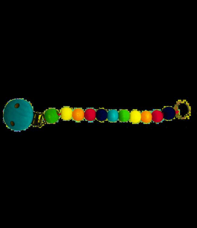 Hess Houten Speenketing Regenboog 22 cm  0+