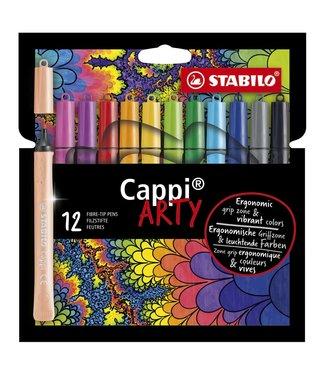 Stabilo Stabilo Cappi Arty Viltstiften 12 Kleuren