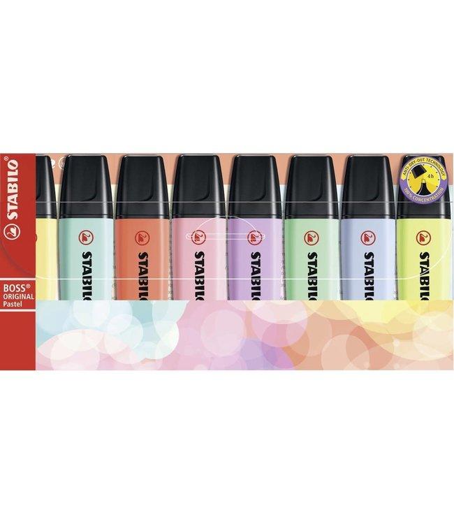 Stabilo Boss Original Pastel Markeerstiften 8 Kleuren