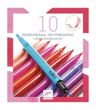 Djeco Djeco Stiften 10 felt brushes - Girl    6+