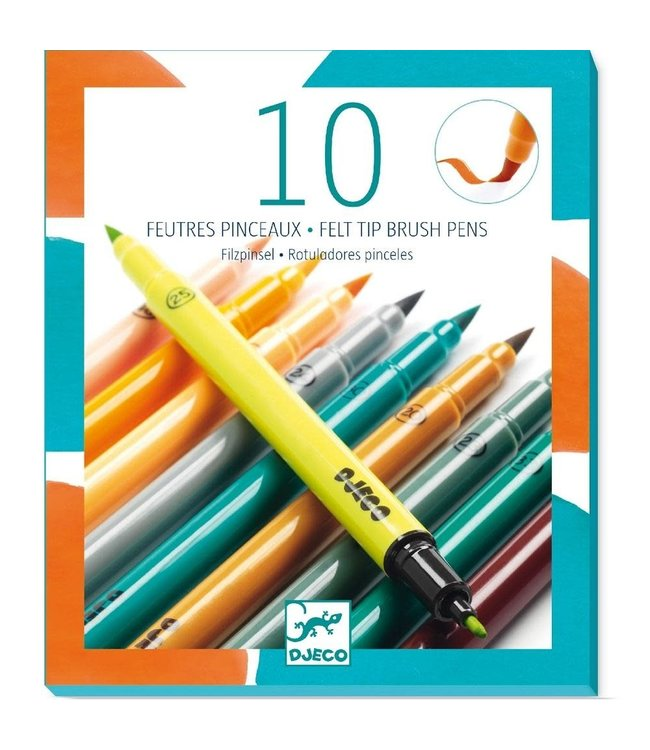 Djeco | Viltstiften | Aardse Kleuren | 10 delig |  6+