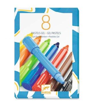 Djeco Djeco   Gel Pastelstiften   Klassiek   8 delig  5+
