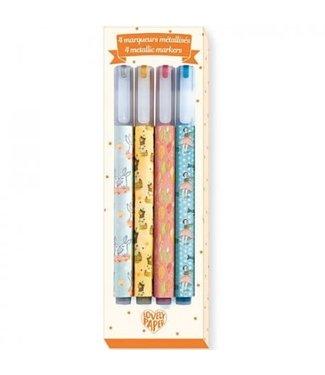 Djeco Djeco Markers 4 Elodie Metallic Markers 6+