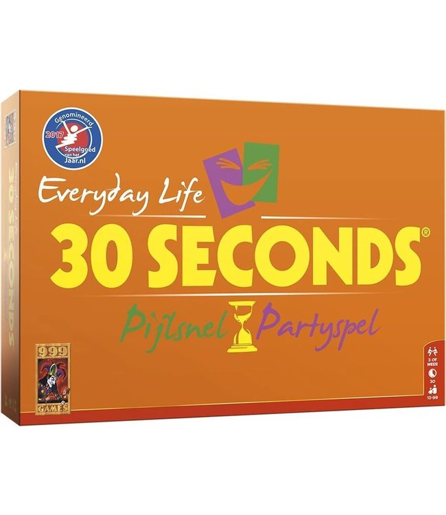 999 Games   30 Seconds   Everyday Life   Bordspel   12+