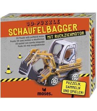 Moses Moses 3D Puzzel Bouwvoertuig met Pullback Motor 4+