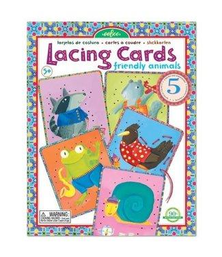 Eeboo Eeboo Lacing Card Friendly Animals 5+