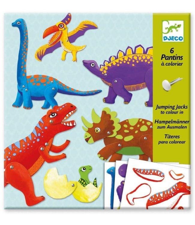 Djeco   Jumping Jacks   Dinosaurus   6 delig   6-9 jaar