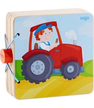 Haba Haba Houten babyboek Tractor 13 cm  +10 mnd