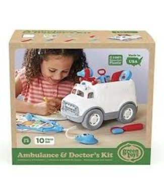 Green Toys Green Ambulance and Doctor's Kit  2+