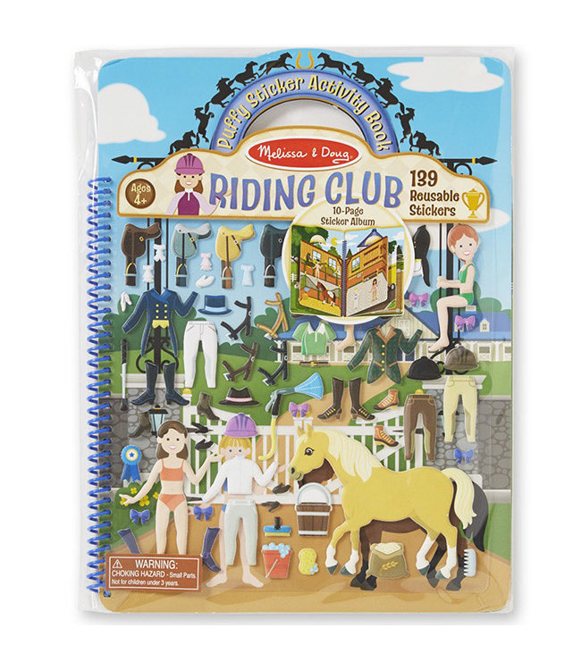 Melissa and Doug Reusable Puffy Sticker  Horse Scenes 4+