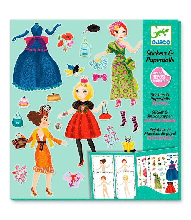 Djeco | Stickers & Paperdolls | Massive Fashion | 4-8 jaar