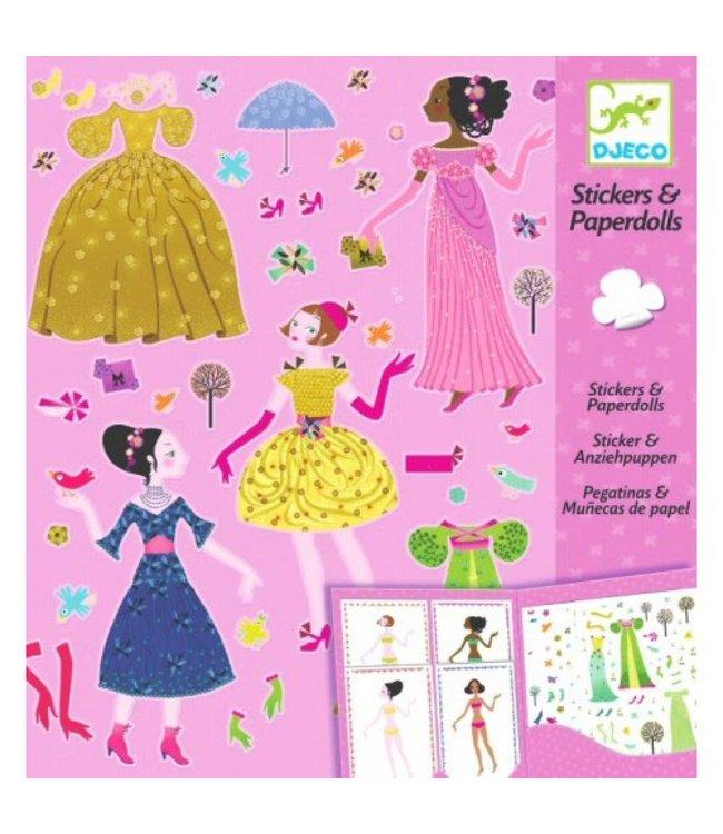 Djeco | Stickers & Paperdolls | Dresses Through the Seasons | 4-8 jaar