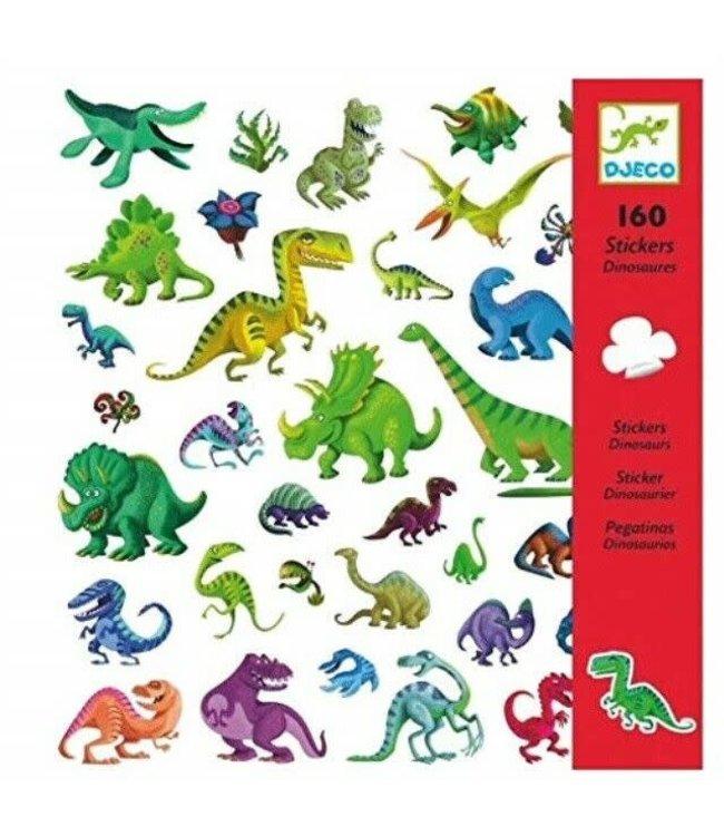 Djeco   Stickers   Dinosaurussen   160 stuks   4+