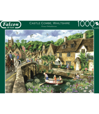 Jumbo Jumbo Puzzel Falcon Deluxe Castle Combe, Wiltshire 1000 st