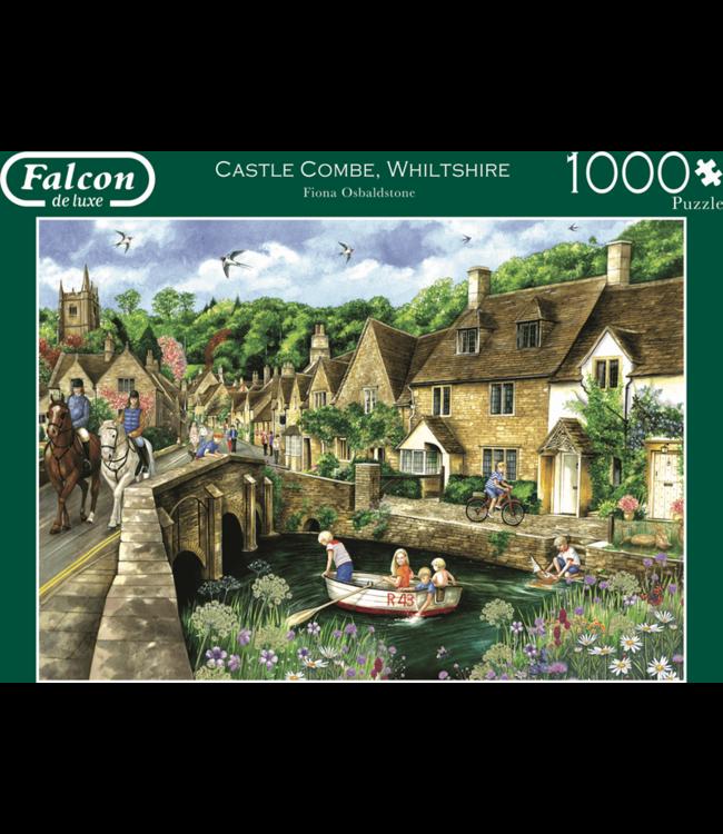 Jumbo Puzzel Falcon Deluxe Castle Combe, Wiltshire 1000 st