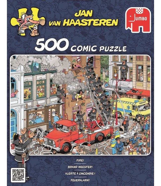 Jumbo Jan van Haasteren Puzzel Brand Meester 500 stukjes