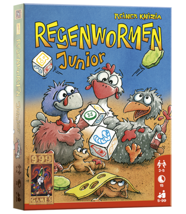 999 Games Dobbelspel Regenwormen Junior 5+