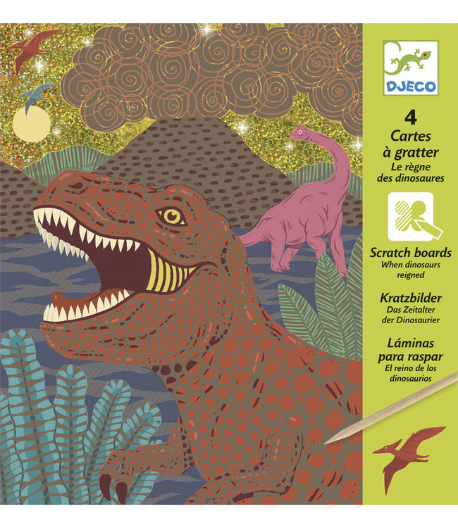 Djeco | Scratch Cards | Metal | When Dinosaurs Reigned | 7-13 jaar