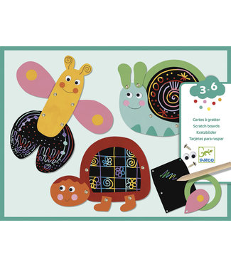 Djeco Djeco | Scratch Cards | Scratch the Funny Animals | 3-6 jaar