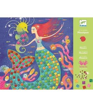 Djeco Djeco | Relief Collages| Art by Number | The Mermaid's Song | 7-13 jaar
