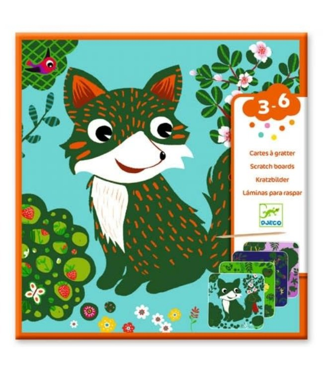 Djeco | Kraskaarten | Country Creatures | 3-6 jaar