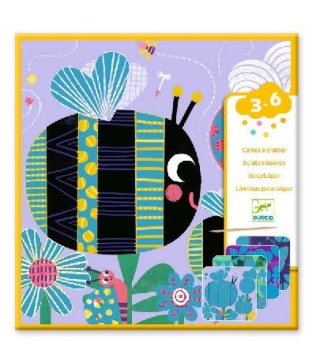 Djeco | Kraskaarten | Insekten | 3-6 jaar