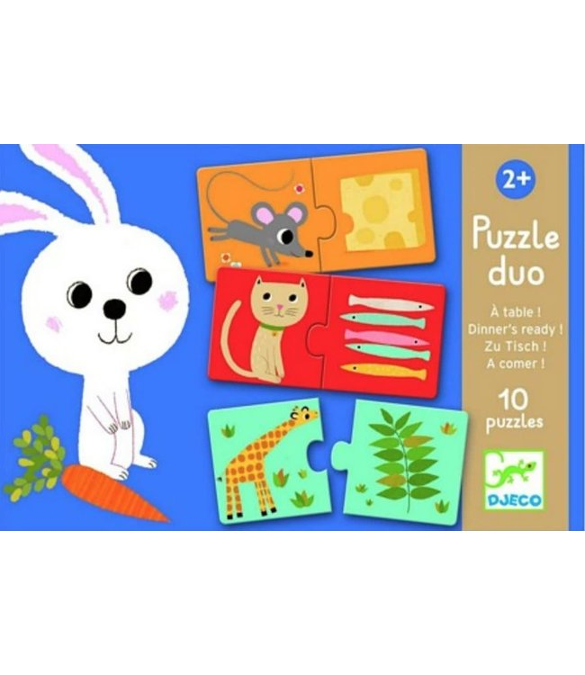 Djeco Puzzle duo A table !  10 delige puzzels   2+