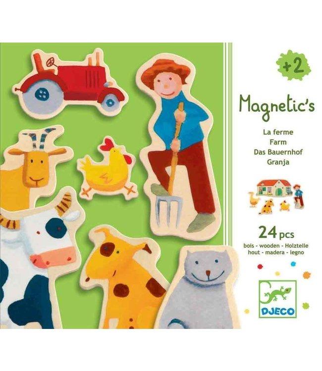 Djeco   Set met Magneten   Farm   24 delig   2+