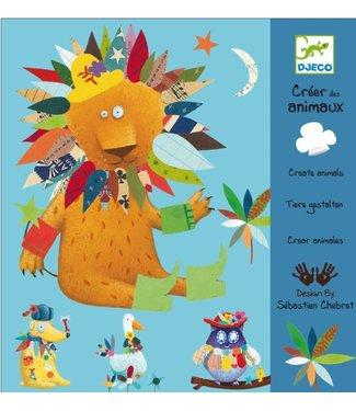 Djeco Djeco | Create With Stickers | Create Animals | 3-6 jaar