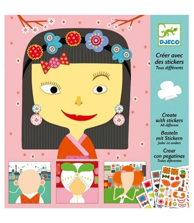 Djeco | Create With Stickers | All Different | 3-6 jaar