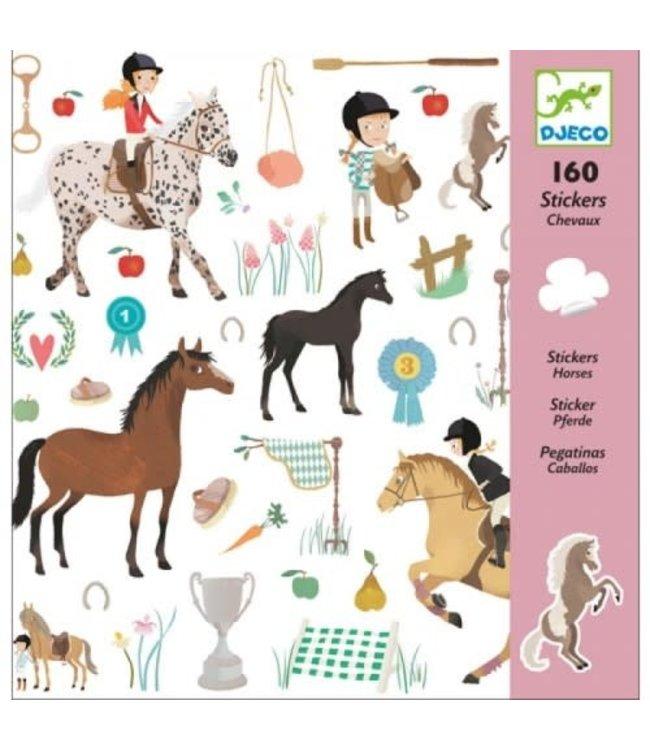 Djeco | Stickers | Horses | 160 stuks | 4+