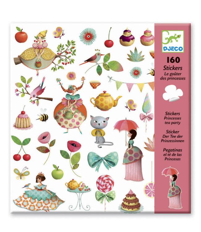 Djeco | Stickers | Princess Tea Party | 160 stuks | 4+