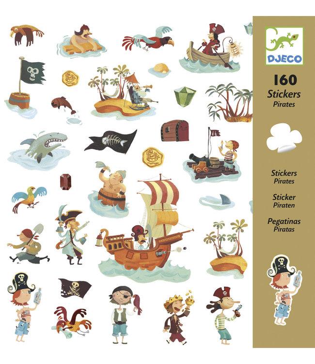 Djeco | Stickers | Pirates | 160 stuks | 4+