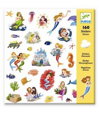 Djeco Djeco 160 Stickers Mermaids 4-8 jaar