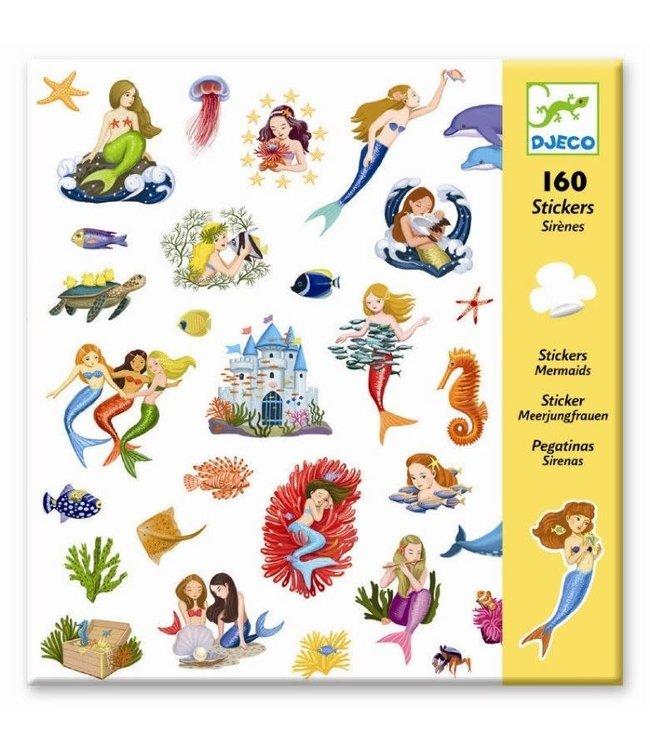 Djeco   Stickers   Mermaids   160 stuks   4+