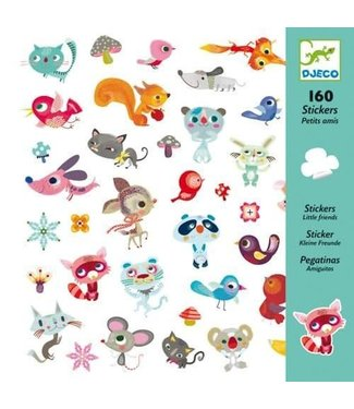 Djeco Djeco 160 Stickers Little Friends  4+