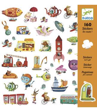 Djeco Djeco 160 Stickers Let's Go 6-11 jaar