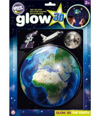Brainstorm Toys Brainstorm Toys 3D Glow in the Dark Stickers Aarde  3+