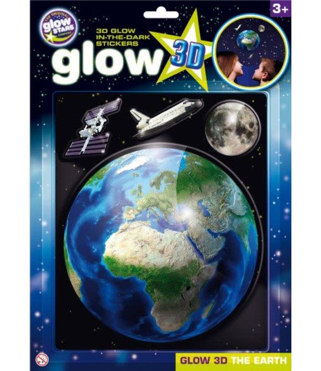 Brainstorm Toys 3D Glow in the Dark Stickers Aarde  3+